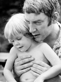 Actor Donald Sutherland W. Son, Future Actor Keifer Sutherland Premium fototryk