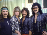 Ozzy Osbourne and Members of Heavy Metal Rock Group, Black Sabbath Premium-Fotodruck von Ann Clifford