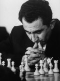 World Chess Champion Tigran V. Petrosian, During a Tournament Game Premium-Fotodruck