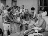 Followers Offering Fruits to Sri Ramana Maharshi Premium Photographic Print