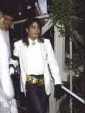 Michael Jackson Attending the Academy Awards Premium fotografisk trykk av David Mcgough