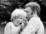 Actor Donald Sutherland and Son Keifer Premium fototryk