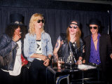 Members of the Rock Group Guns N' Roses Slash, Duff Mckagan, Axl Rose and Izzy Stradlin Lámina fotográfica prémium