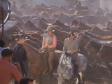 "Actor John Wayne During Filming of Western Movie ""The Undefeated"" Premium fotoprint van John Dominis"