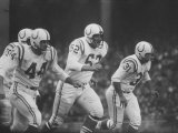 Baltimore Colts Playing Against the New York Giants Premium Photographic Print