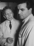 Actor Vincent Edwards with Actor Sam Jaffe as He Appears in Television Program Ben Casey Premium Photographic Print by Ralph Crane