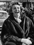 Singer Rosemary Clooney Laughing Premium Photographic Print by Allan Grant