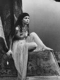 "Actress Susan Strasberg During the Play ""Caesar and Cleopatra"" Premium fototryk"