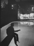 Singer Ricky Nelson Playing Guitar on Poolside Premium Photographic Print by Ralph Crane