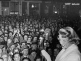 """Singer Rosemary Clooney at the Premiere of Her Movie """"Stars are Singing"""" Premium Photographic Print by Allan Grant"""