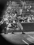 Player Stan Musial Making His 3000Th. Hit Reproduction photographique Premium