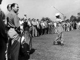 Golfer Ben Hogan, Playing in a Golf Tournament Premium fototryk af Loomis Dean