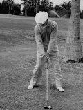 Golfer Ben Hogan, Demonstrating His Golf Drive Lámina fotográfica prémium por J. R. Eyerman