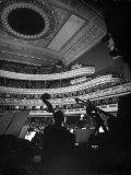 Leopold Stokowski Conducting the New York Philharmonic Orchestra at Carnegie Hall Premium Photographic Print by Gjon Mili
