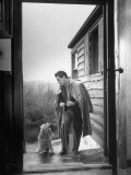At Home Gian-Carlo Menotti Usually Sports a Cane When He Walks with His Dog Premium Photographic Print by Nina Leen