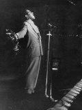 Dizzy Gillespie Singing in Nightclub Premium Photographic Print