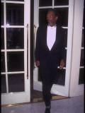 Actor Morgan Freeman Standing Near Doorway at Rita Moreno Tribute Held at Beverly Wilshire Hotel Lámina fotográfica prémium por Mirek Towski