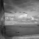 US Army War Planes Flying over the Panama Canal Zone Premium Photographic Print by Thomas D. Mcavoy