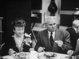 John with Bricker and His Wife During the Republian Dinner Meeting Premium Photographic Print by Thomas D. Mcavoy