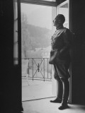 Commander-In-Chief of the Swiss Army General Henri Guisan Standing in Doorway Lámina fotográfica