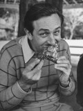Animator and Movie Producer Walt Disney Eating Chicken Photographic Print