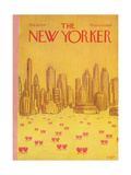 The New Yorker Cover - February 18, 1974 Giclee Print by Robert Weber