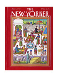 The New Yorker Cover - June 1, 1992 Premium Giclee Print by Bob Knox