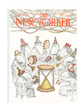 The New Yorker Cover - January 4, 1982 Giclee Print by Edward Koren