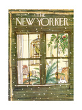 The New Yorker Cover - January 9, 1978 Reproduction giclée Premium par George Booth