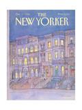 The New Yorker Cover - December 17, 1984 Giclée-Premiumdruck von Iris VanRynbach