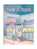 The New Yorker Cover - December 7, 1987 Giclée-Premiumdruck von Iris VanRynbach