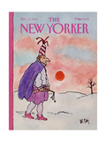 The New Yorker Cover - December 31, 1984 Giclee Print by William Steig