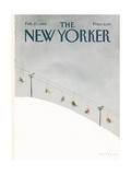 The New Yorker Cover - February 27, 1984 Premium Giclee-trykk av Abel Quezada