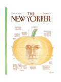 The New Yorker Cover - October 29, 1990 Giclee Print by Warren Miller