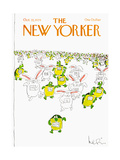 The New Yorker Cover - October 22, 1979 Giclée-tryk af Arnie Levin