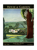 House & Garden Cover - July 1929 Giclee Print by Harry Richardson