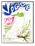 Vogue Cover - March 1949 Giclée-Druck von Marcel Vertes