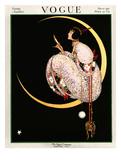 Vogue Cover - November 1917 - Moon and Mirror プレミアムジクレープリント : ジョージ・ウルフ・プランク