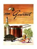 Gourmet Cover - March 1941 Giclée-tryk af Henry Stahlhut
