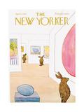 The New Yorker Cover - April 1, 1972 Lámina giclée prémium por James Stevenson