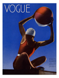 Vogue Cover - July 1932 - Red Beach Ball Premium Giclee Print by Edward Steichen