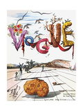 Vogue Cover - April 1944 - Dali's Surealist Vogue Premium Giclee-trykk av Salvador Dalí