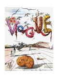 Vogue Cover - April 1944 - Dali's Surealist Vogue Giclée-Premiumdruck von Salvador Dalí