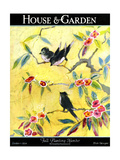 House & Garden Cover - October 1924 Premium Giclee Print by Leah Ramsay