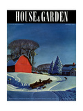 House & Garden Cover - December 1937 Premium Giclee Print by Dale Nichols