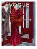 Vogue Cover - October 1933 Premium Giclee-trykk av Georges Lepape