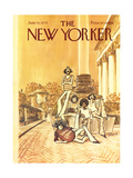 The New Yorker Cover - June 10, 1974 Giclee Print by Charles Saxon