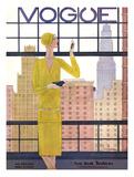 Vogue Cover - May 1928 - City View Gicléedruk van Georges Lepape