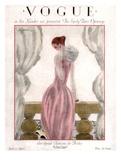 Vogue Cover - April 1923 - Pink Evening Gown Gicléetryck av Georges Lepape