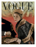 Vogue Cover - November 1948 Premium Giclee Print by John Rawlings